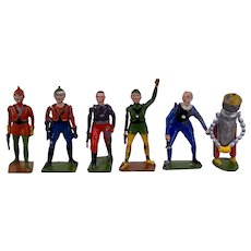 Britains Buck Rogers complete lead toy set, John Dille Co, very rare
