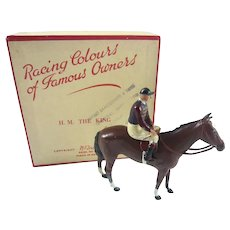 Britains Racing Colours Famous Owners: HM The King, boxed