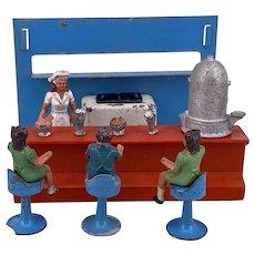 Crescent Toys Milk Bar part set 1950s