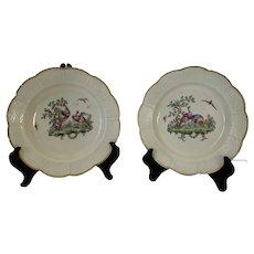 Worcester fabulous bird plates