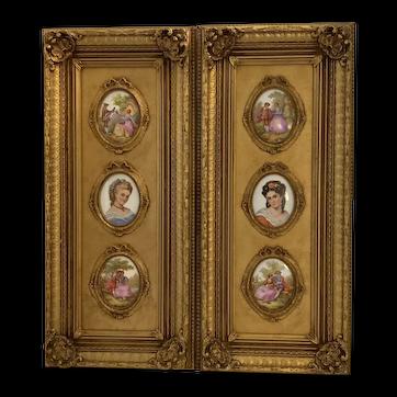 Limoges porcelain plaques (6)