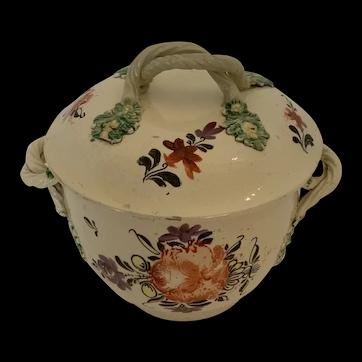 Creamware sugar or salt pot