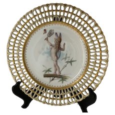 Minton plate,painted by Boullemeier