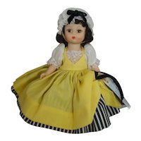 """Vintage 8"""" Madame Alexander France in Yellow Dress"""