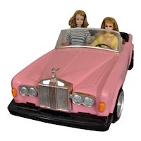 Vintage Barbie Pink Rolls Royce  Convertible, Zima & 2 vintage Friends of Barbie