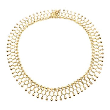 Tiffany & Co 18k Yellow Gold Cleopatra Collar Link Necklace