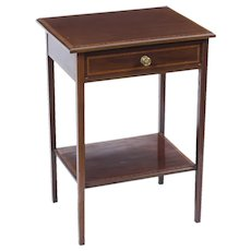 Antique Edwardian Inlaid Mahogany Occasional Table c.1900