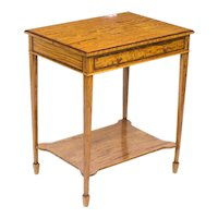 Antique Sheraton Revival Satinwood Occasional Side Table c1880