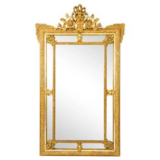 Antique French Giltwood Overmantel Louis Revival Mirror C1860 19th C 162x101cm