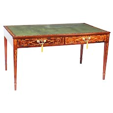 Antique George III Mahogany Library Writing Table Desk C1780 18th Century