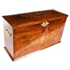 Antique Victorian Gonçalo Alves Writing Stationery Box C1860