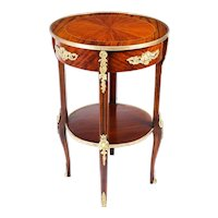 Antique French Empire Revival Ormolu Mounted Gueridon Occasional Table 19th C