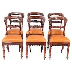 Antique Set of 6 William IV Mahogany Dining Chairs c1830 19th C