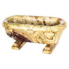 Antique Grand Tour Desk Roman Model Marble Bath 19th C