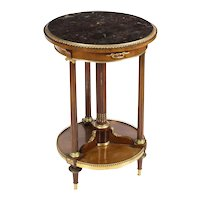 Antique French Ormolu Mounted Mahogany Occasional Table Gueridon 19th C