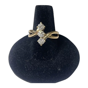 14K Gold Three Stone Diamond Ring approx. 1.20 CTW.