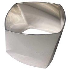 Tiffany & Co./Frank Gehry Sterling Silver Torque Wide Bracelet