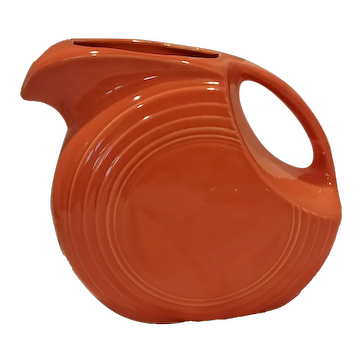 Fiestaware 64 oz. Ceramic Large Disk Pitcher in Paprika Orange in Overall Good Condition