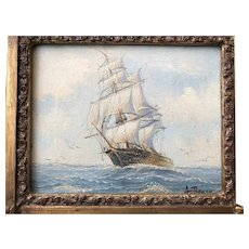 Marine oil painting by Ambroso