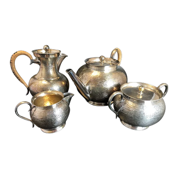 Silver plate tea set from Kirby Beard and co Paris