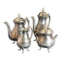 Tea coffee set in silver plate