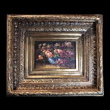 Flower oil painting by Bernhard Vogel