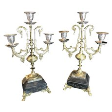 Antique pair of candle stisck