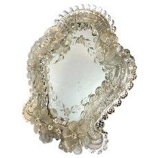 Antique Mirror Stand Venetian Murano Glass