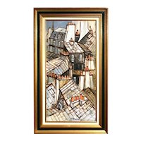 The roofs of Paris oil painting by Jacques Goupil