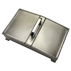1951 Large Vintage Solid Sterling Silver Double Desk Tidy Jewellery Box 805g