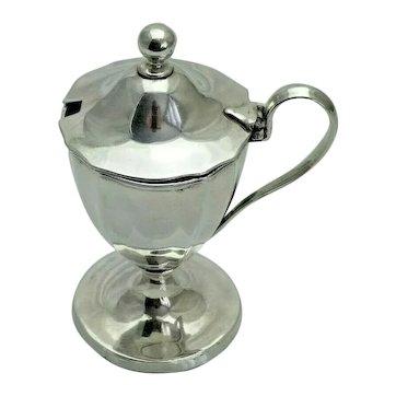 1794 Georgian Antique Solid Sterling Silver Mustard Jam Preserve Pot