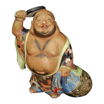 Vintage Japanese Satsuma Hotei Happy Buddha Lucky God Moriage