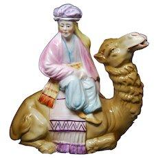 Antique German Porcelain Camel Teapot Decanter Orientalist