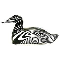 Abraham Palatnik lucite animal figurine acrylic duck Kinetic Op Art sculpture