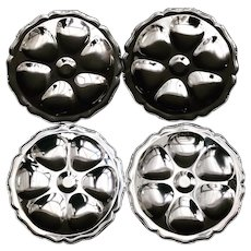 4 Oyster Plate rare Stainless Steel Oysters set Guy Degrenne