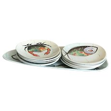 Dinnerware French Lobster seafood platter French Fish Plate set