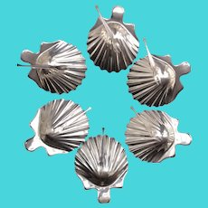 Shell silver plate set 6 plates made by Bruno Wiskemann