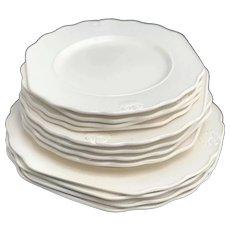 Dinnerware set 12 pieces Vintage Genevieve Lethu Pattern Hortense