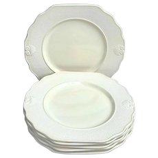 Dinnerware set 6 dessert entree cheese plates Vintage Genevieve Lethu Pattern Hortense