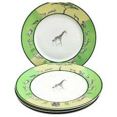 Hermes Africa Green Dinner plates set of 4 Vert