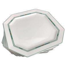 Porcelain Bernardaud Limoges Luncheon plates Set 5