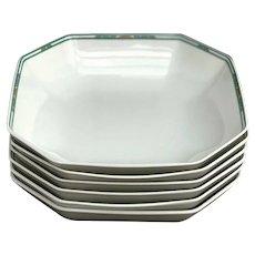 Porcelain Bernardaud Limoges Soup or Pasta plates Set 6