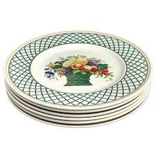 6 Villeroy & Boch Basket Dinner Plates