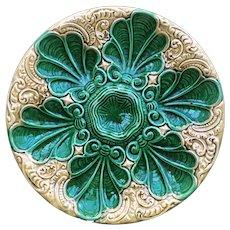Oyster plate Antique Majolica 19th Century Art Nouveau