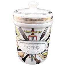 Fornasetti ceramic canister