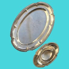 Oval Plate with gravy boat silver plated Bruno Wiskemann