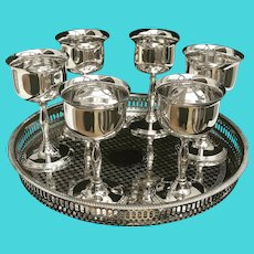 Wine metal glasses Drinking Gobelets Silver Plated