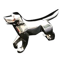 Christofle Dog Figurine Zodiac Collection Silver plated Paperweight France