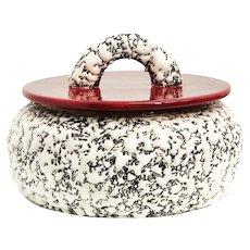 Art Deco Box dish with lid Paul Milet 1930s France Sevres