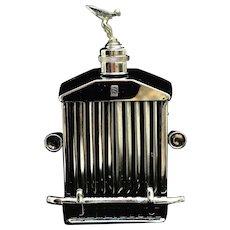 Vintage Rolls Royce Radiator Flask and Musical Box Hip Flask